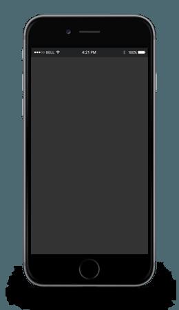 iphone negro diseño web